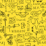 Vacation Seamless Pattern Royalty Free Stock Image