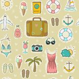 On vacation seamless pattern Royalty Free Stock Photos