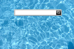 Vacation search bar Royalty Free Stock Image