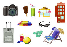 Vacation set Stock Photo