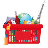 Vacation shopping cart Royalty Free Stock Photos
