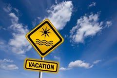Vacation sign Royalty Free Stock Photo