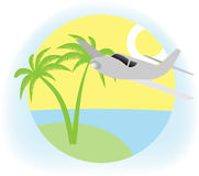 Vacation sign. Illustration of summer vacation sign Royalty Free Stock Image