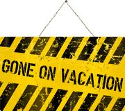 On vacation sign Royalty Free Stock Images