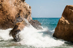 Vacation in Spain. Mediterranean Sea Royalty Free Stock Images