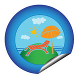Vacation sticker Royalty Free Stock Photography