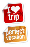 Vacation stickers set Stock Images