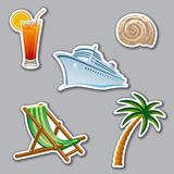 Vacation stickers Royalty Free Stock Images