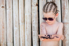 Vacation style boy portrait Royalty Free Stock Photo