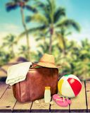 Vacation Suitcases Royalty Free Stock Photos