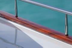 Vacation sull'yacht del motore, dettagli dell'yacht di lusso interno dalle Bahamas ai Caraibi immagini stock