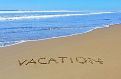 Vacation on the summer beach Royalty Free Stock Images