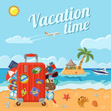 Vacation and Summer Concept Royalty Free Stock Images