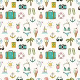 On vacation summer seamless pattern Stock Image