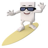 Vacation surfer Stock Image