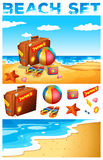 Vacation theme on the beach Stock Photography