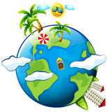 Vacation theme with scenes on earth. Illustration Royalty Free Stock Images