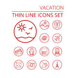 Vacation thin line icons se vector illustration