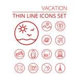 Vacation thin line icons se Royalty Free Stock Photo
