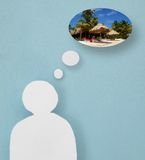 Vacation thought bubbles Royalty Free Stock Photos