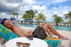 Vacation time. Teenager on his vacation in Florida Stock Photos