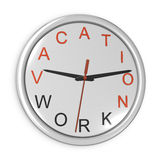 Vacation time concept. Wall clock isolated on the Stock Image