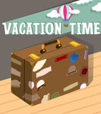 Vacation time with luggage Stock Photography