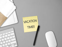 Vacation time note. Stock Photography