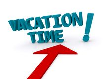 Vacation time sign Royalty Free Stock Image