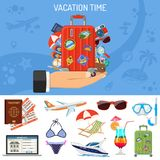 Vacation and Tourism Banner Stock Image