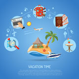 Vacation and Tourism Concept Royalty Free Stock Images