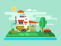 Vacation trailer Stock Images