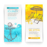 Vacation and travel banners royalty free illustration