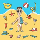 Vacation travel character construction pack Stock Photo