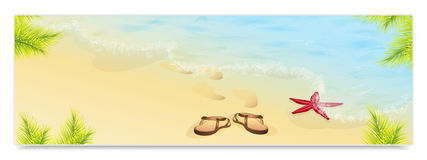 Vacation and travel. Concept of advertising banner Royalty Free Stock Image
