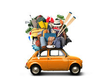 Vacation and travel. A huge pile of things for the holiday royalty free stock photos