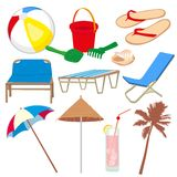 Vacation and travel icons Royalty Free Stock Photos