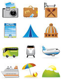Vacation and travel icons Stock Image