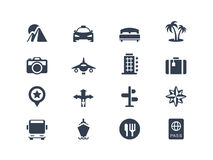 Vacation and travel icons. Set Royalty Free Stock Image