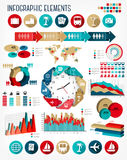 Vacation and travel infographics template. Stock Photography