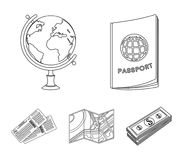 Vacation, travel, passport, globe .Rest and travel set collection icons in outline style vector symbol stock. Illustration Royalty Free Stock Photo