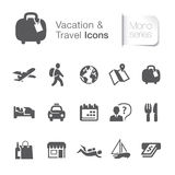 Vacation & travel related icons. Stock Photo