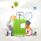 Vacation travelling composition Royalty Free Stock Photo