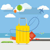 Vacation travelling concept royalty free illustration