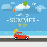 Vacation travelling concept. Flat design illustration Stock Photo