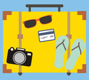 Vacation travelling concept. Flat design Royalty Free Stock Photo