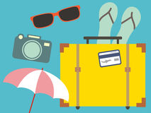 Vacation travelling concept. Flat design Stock Photos