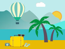 Vacation travelling concept. Flat design illustration Royalty Free Stock Images