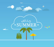 Vacation travelling concept. Flat design illustration Stock Photos