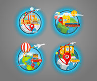Vacation travelling concept with pins Royalty Free Stock Photos